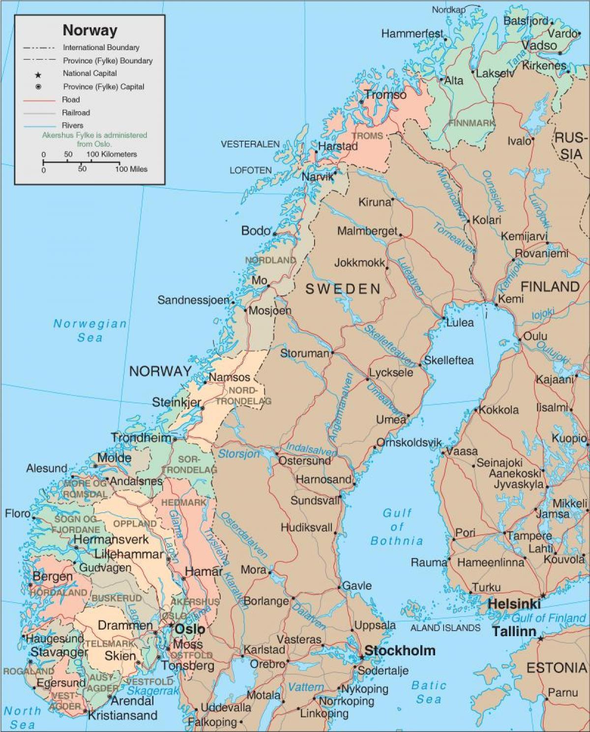 Norge Fosser Kart Kart Over Norge Fosser Northern Europe Europe
