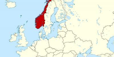 Norge Kart Europa Kart Over Norge Og Europa Northern Europe